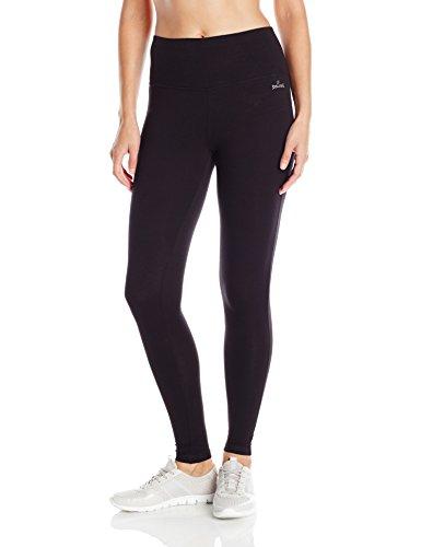 (Spalding Women's High-Waisted Legging, Black, Medium)