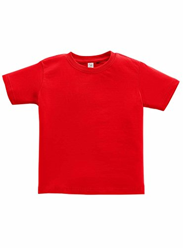 Rabbit Skins 100% Cotton Blank Toddler Fine Jersey Tee  Red