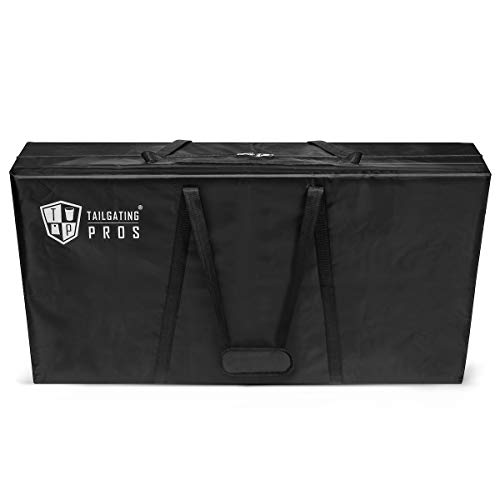 Canvas Carrying Case - Tailgating Pros Cornhole Board Carrying Case 4'x2' Regulation Size (Heavy-Duty Material)