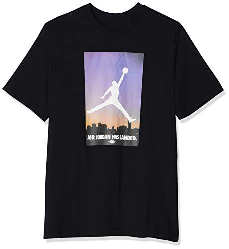 Air Jordan 23 Air - Jordan AO0692-010: Men's Air 23 Has Landed Black T-Shirt (Large)