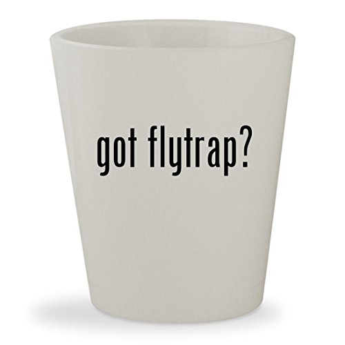 got flytrap? - White Ceramic 1.5oz Shot Glass