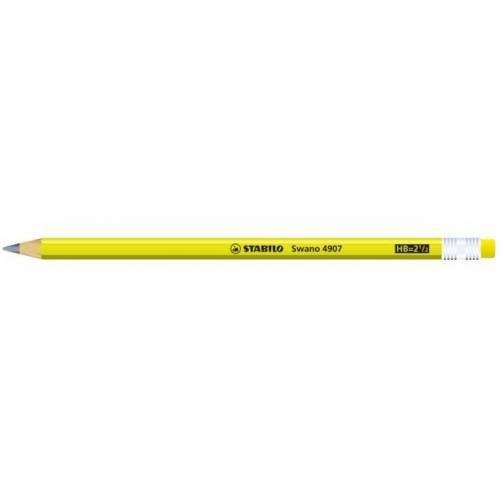 STABILO swano fluo matita in grafite con gommino Giallo - Confezione da 12 4907/HB-24