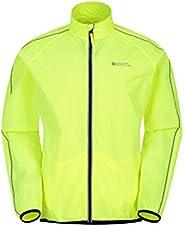 Mountain Warehouse Mens Water Resistant Running Rain Jacket