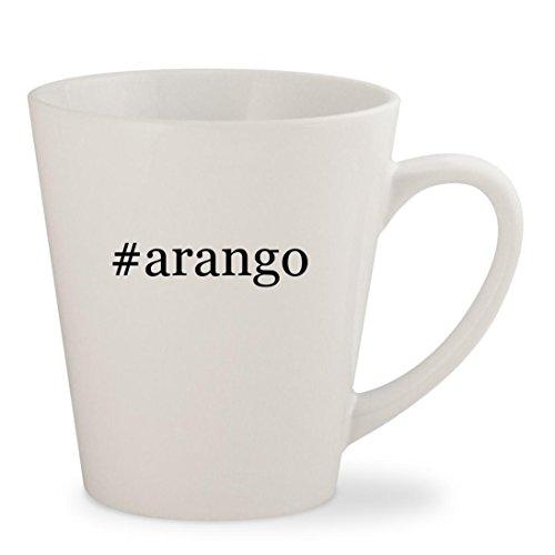 #arango - White Hashtag 12oz Ceramic Latte Mug Cup - Los Arango Tequila