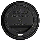 Zoom Supply Dart Solo Traveler Coffee Cup Lids, Commercial-Grade Classy Solo Dart Coffee Cup Lids -- Unlike Whimpy Cheapies Popping Off These Keep Customers Close Clean
