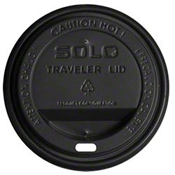 Solo TLB316 Traveler Lids, Elegant & Tight-Fit Black Coff...