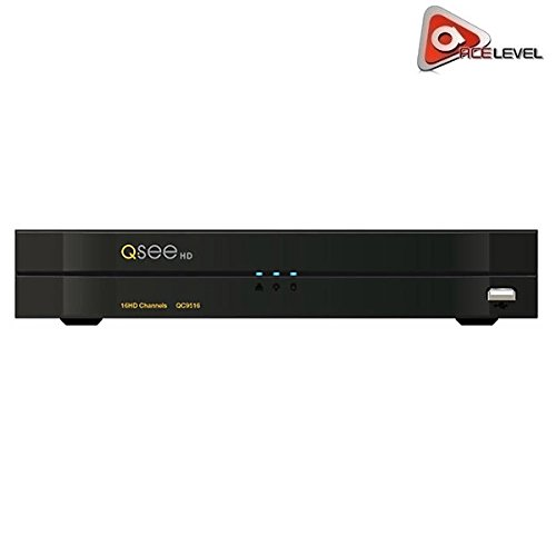- Q-See 16-Channel Analog HD DVR: H.264, Dual Stream, Up to 6TB, 30 FPS Live Display, 16 Channel Simultaneous Playback - QC9516