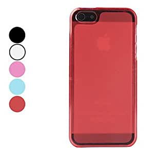 Frosted Matte TPU Soft Case for iPhone 5/5S (Assorted Colors) --- COLOR:Red