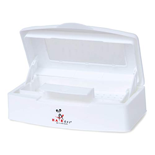 Professional Disinfectant Box - Removable Sterilizing Tray, Self Draining Basket, Viewing Window - Cleans Nail, Hair, Salon and Spa Equipment - 9x5x3