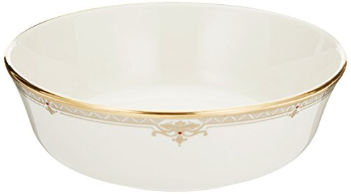Lenox Republic Gold Banded Ivory China All Purpose - China Banded Serving Bowl Ivory