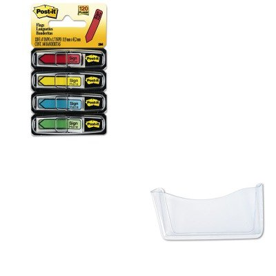 KITMMM684SHRUB65972ROS - Value Kit - Rubbermaid Unbreakable Single Pocket Wall File (RUB65972ROS) and Post-it Arrow Message 1/2amp;quot; Flags (MMM684SH)