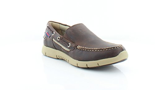 Slip-On Loafer, Dark Brown Leather, 10 M US (Sebago Mens Slip)