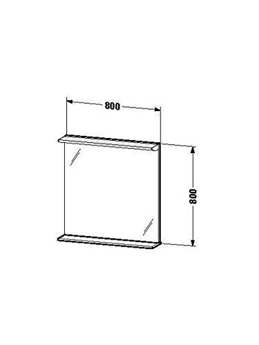 Duravit Spiegel mit Beleuchtung Darling New 170x800x800mm, 1 Holzablage, weiss matt, DN727601818