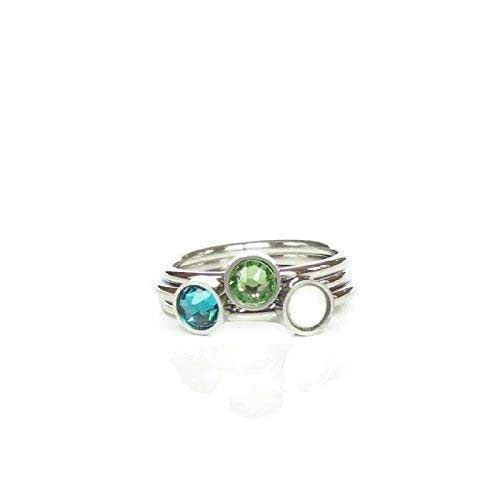 Stackable Ring Custom Gemstone Ring Stackabe Mothers Ring Stackable Birthstone Ring Stacking Mothers Ring 6x4mm