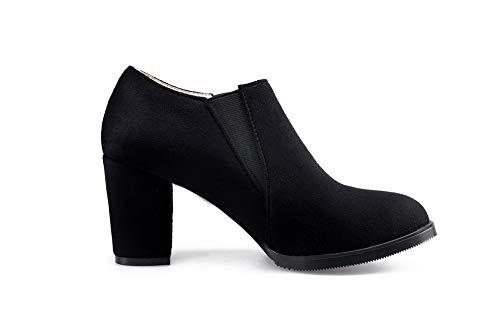Femme Noir Sandales AdeeSu Compensées SDC05791 wqfxOTa