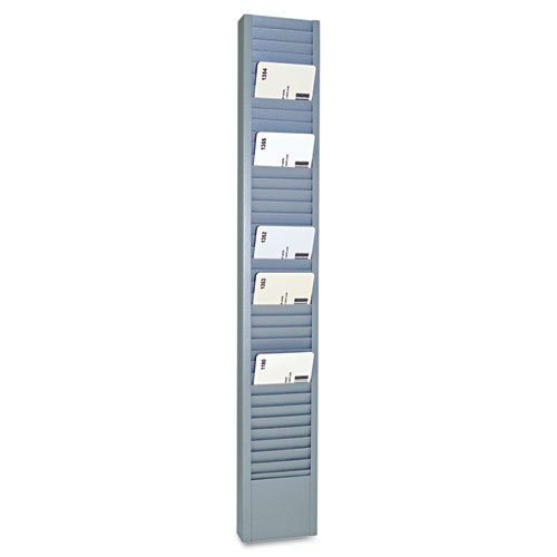 SteelMaster - 40-Pocket Steel Swipe Card/Badge Rack, 2-15/16'' x 18-11/16'' 20501 (DMi EA
