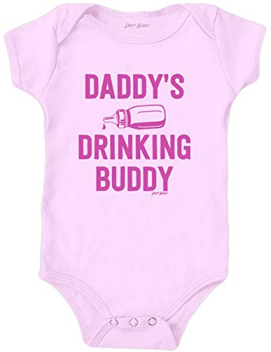(Daft Baby ~ Daddy's Drinking Buddy Funny Baby Onesie Pink (3-Months))