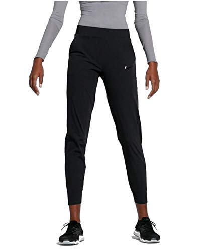 Nike Womens Bliss Lux Mid-Rise Training Pants Black/Clear AQ4638-010 (Large)
