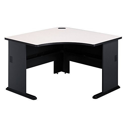 Bush Business Furniture Series A 48W Corner Desk in Slate and White ()