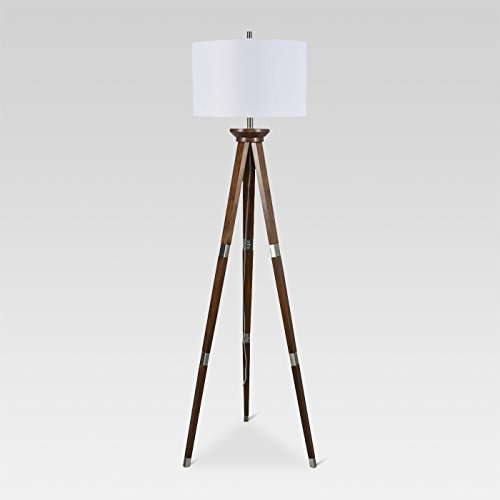 Wood Tripod Floor Lamp Nickel  - Threshold™