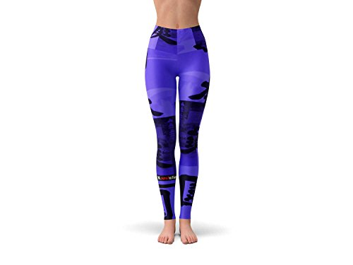 Ethnic Revolution Breathe Easy Stretchy & Comfy Yoga Pants, Dance Leggings, Workout Gear, Crossfit Pants, and Tights For All Sizes From x Small- XX Large. Japanese Art 2 Design (XX Large)