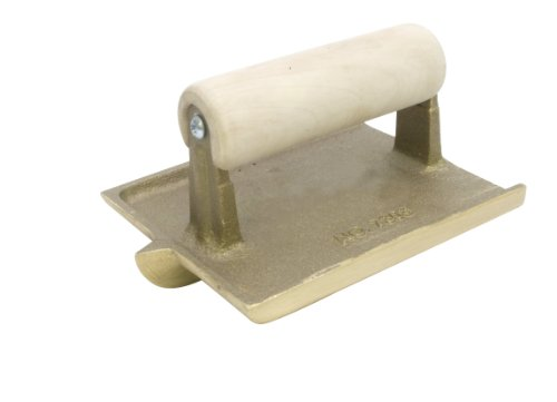 QLT By MARSHALLTOWN 7305W 6-Inch by 4-1/2-Inch Bronze Hand Groover with Wood Handle by Qlt By Marshalltown
