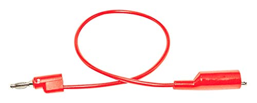 MUELLER ELECTRIC BU-P1166-12-2 Test Lead, 4mm Stackable Banana Plug, Alligator Clip, 1 kV, 10 A, Red, 300 mm by Mueller Electric
