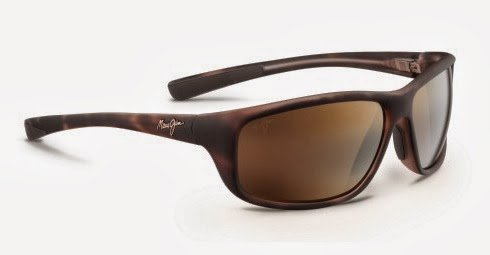 Maui Jim Spartan Reef Sunglasses, Matte Tortoise Rubber/HCL Bronze, One Size by Maui Jim
