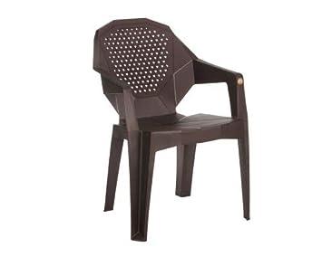 VARMORA Designer Galaxy Chair (Set of 2) (Teak Wood Color)