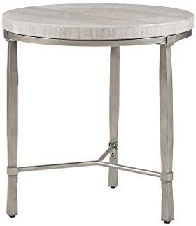 Madison Park Reese Accent Round Marble Veneer Top