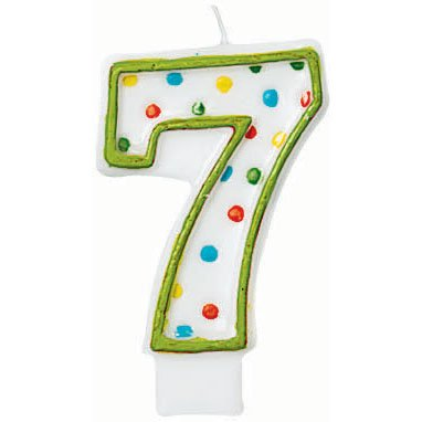 number seven candle - 1