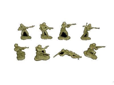 Classic Toy Soldiers WWII American GI's 16 figures in 8 poses from Classic Toy Soldiers, Inc