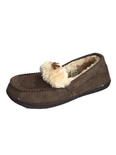 Jyoti - Zapatillas de estar por casa para mujer marrón oscuro