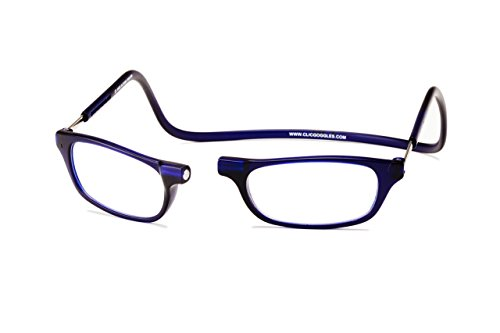 Clic Magnetic Reading Glasses in Frosted Matte Blue (Frosted Blue, 3 x)