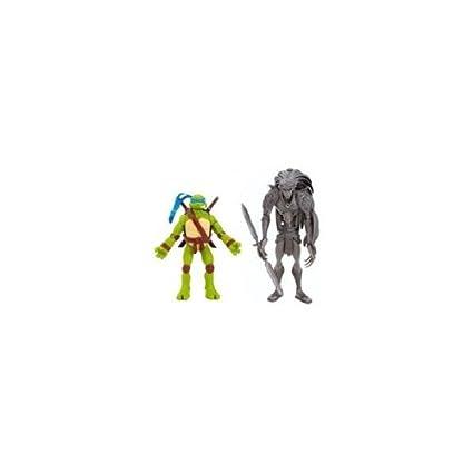 Amazon.com: Teenage Mutant Ninja Turtles TMNT Movie - Leo vs ...