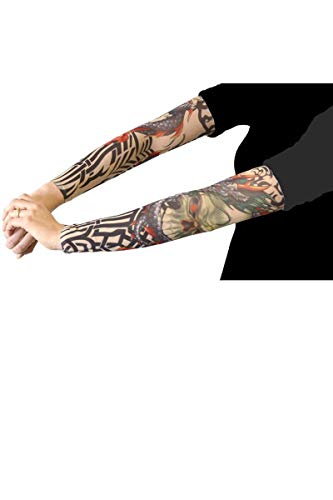 AEC 100% Polyester-Adulte Fac聽-聽ac0332聽-聽Pair of tatouees Sleeves聽-聽12聽Assorted Designs]()