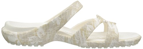 Women's Cobblestone Tropical Graphic Meleen Wedge Twist Sandal Crocs fYxw4dRSq4