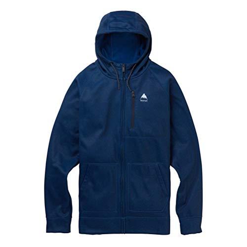 Burton Men's Crown Bonded Full-Zip Hoodie, Dress Blue Acid Wash, ()
