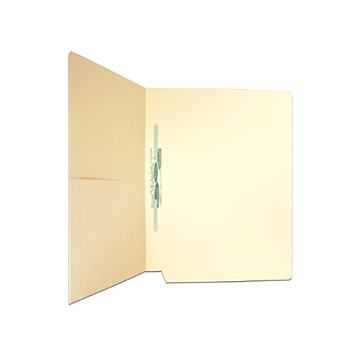 Medical Arts Press Match Manila End Tab Pocket Folders with 1 Permclip Fastener- Drop Front (50/Box)