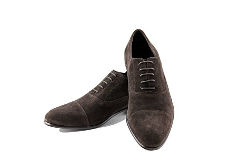 Schnürschuh Cliff Testa feinstem Moro aus Suede Sacchetto Flexible Kalbsveloursleder di Shoes Braun Prime qtvEYgf