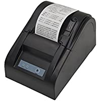 1 X USB POS Thermal Printer (Black, Paper width 58mm, Compatible ESC/POS Command, Built-in data buffer)