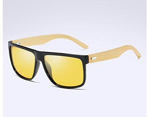 black polarisées dans de de soleil des bois vision lunettes night le Bambou hommes TL Sunglasses de bois wXq1IX6