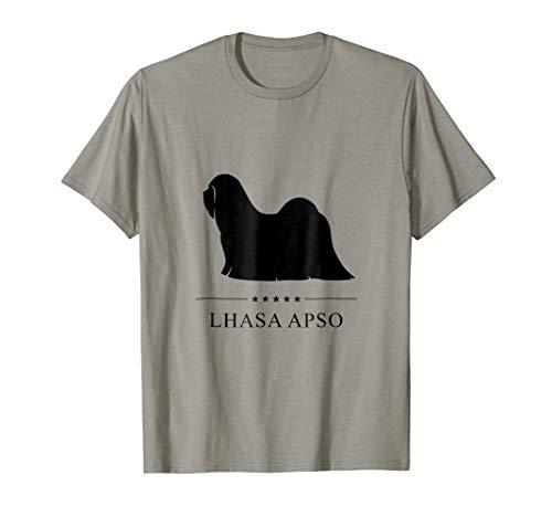 - Lhasa Apso Shirt: Black Silhouette