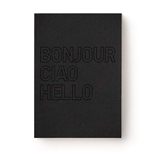 JSTORY Bonjour Planner Small Undated Eco Friendly Customizable Hello Grid Blank A6 12 Months 45 Weeks 80 Sheets Black