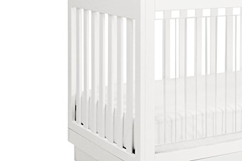 Babyletto Harlow 3-in-1 Convertible Crib, White Finish and Base/Acrylic Slats