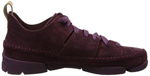 Clarks Originals Trigenic Flex, Scarpe da Ginnastica Basse Donna Viola (Purple Nubuck)
