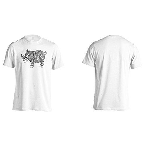 Neues Handgezeichnetes Nashorn Herren T-Shirt l812m