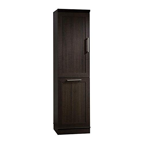 "Sauder 411309 Homeplus Storage Cabinet, L: 18.82"" x W: 17.01"" x H: 71.18"", Dakota Oak finish"