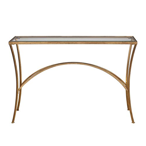 (Uttermost Console Table in Gold Finish)