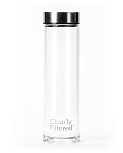 - Clearly Filtered 18oz Borosilicate Glass Water Bottle BPA Free